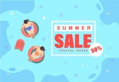Venta del verano del ejemplo libre illustration