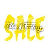 Venta dotworking de Black Friday - las etiquetas engomadas, insignias, han escrito las herramientas de la caligrafía y modificado Fotografía de archivo libre de regalías