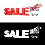 Venta el 20% Imágenes de archivo libres de regalías