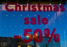 Venta el 50% de la Navidad Fotografía de archivo