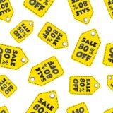 Venta el 80% del fondo inconsútil del modelo de la etiqueta colgante Negocio plano Fotografía de archivo libre de regalías