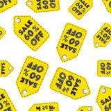 Venta el 60% del fondo inconsútil del modelo de la etiqueta colgante Negocio plano Imágenes de archivo libres de regalías