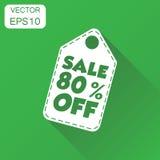 Venta el 80% del icono de la etiqueta colgante Venta el 80% p que hace compras del concepto del negocio Imagenes de archivo