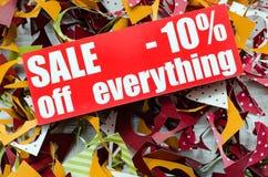 Venta el hasta 10 por ciento Foto de archivo libre de regalías