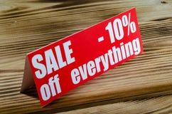 Venta el hasta 10 por ciento Imágenes de archivo libres de regalías