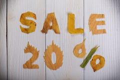 Venta el 20 por ciento Foto de archivo libre de regalías