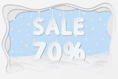 Venta el 70 por ciento de texto Imagenes de archivo
