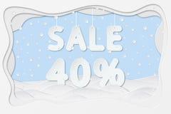 Venta el 40 por ciento de texto Imágenes de archivo libres de regalías