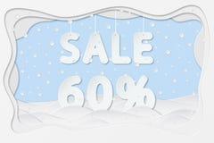 Venta el 60 por ciento de texto Imagen de archivo