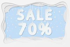 Venta el 70 por ciento de texto Imágenes de archivo libres de regalías
