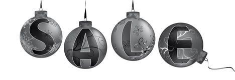 Venta en las bolas metálicas de la Navidad Fotografía de archivo libre de regalías