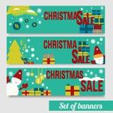 Venta EPS10 de la Navidad de las banderas del vector Imagen de archivo libre de regalías