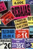 Venta española fotos de archivo libres de regalías
