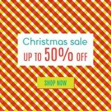 Venta especial de Navidad Foto de archivo libre de regalías