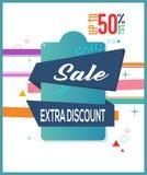 Venta especial Descuento adicional hasta bandera mega de la venta de la oferta del 50% Off, Limited Cartel de la venta Venta gran Ilustración del Vector