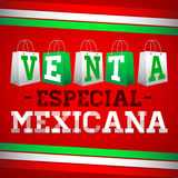 Venta Especial Mexicana - Mexican Special Sale Stock Image