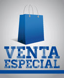Venta especial -  Special Sale spanish text Stock Images