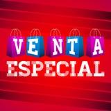 Venta especial - Special Sale Spanish text Stock Photos
