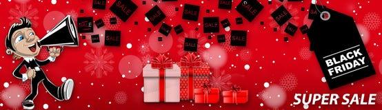 Venta estupenda de Black Friday, fondo rojo fotos de archivo libres de regalías