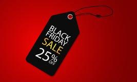Venta estupenda negra de viernes en bandera simple y de lujo del ejemplo del vector de la plantilla de la etiqueta stock de ilustración