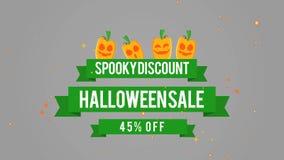Venta fantasmagórica 45 de Halloween del descuento del fondo de la cantidad stock de ilustración