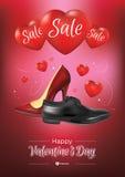 Venta feliz del día de tarjetas del día de San Valentín Imágenes de archivo libres de regalías
