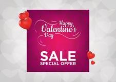 Venta feliz del día de tarjetas del día de San Valentín Fotos de archivo libres de regalías