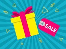 Venta festiva Regalos para las ventas descuentos ilustración del vector