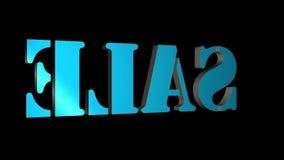venta giratoria de las letras del texto 3D Inscripci?n para los carteles del movimiento, banderas Disponible en im?genes de v?deo libre illustration