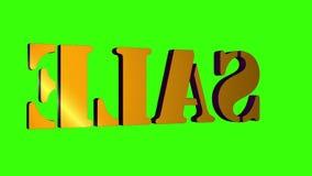 venta giratoria de las letras del texto 3D Inscripci?n para los carteles del movimiento, banderas Disponible en im?genes de v?deo stock de ilustración