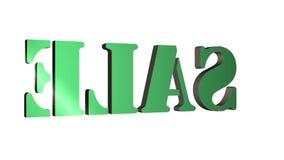 venta giratoria de las letras del texto 3D Inscripci?n para los carteles del movimiento, banderas Disponible en im?genes de v?deo ilustración del vector
