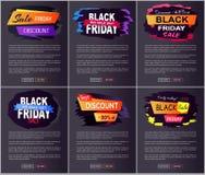 Venta grande 2017 de Black Friday en el ejemplo del vector Imagen de archivo libre de regalías