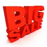 venta grande del texto 3d Foto de archivo