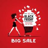 Venta grande negra de viernes Foto de archivo libre de regalías