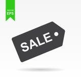 Venta, icono del precio Vector el ejemplo plano del diseño Imágenes de archivo libres de regalías