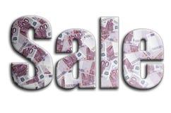 Venta La inscripción tiene una textura de la fotografía, que representa muchas 500 cuentas de dinero euro libre illustration