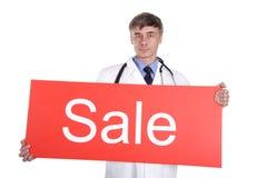 Venta médica Foto de archivo libre de regalías