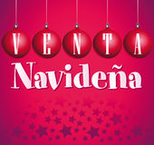 Venta Navidena - Christmas sale spanish Stock Photos