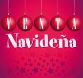 Venta Navidena - julförsäljningsspanjor Arkivfoton