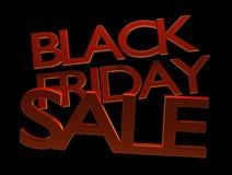 Venta negra 3d-illustration de viernes Stock de ilustración