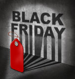 Venta negra de viernes Foto de archivo