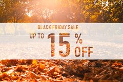 Venta negra el hasta 15% de viernes imágenes de archivo libres de regalías