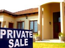 Venta privada de la casa Foto de archivo libre de regalías