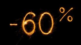 Venta 60 procent apagado Foto de archivo