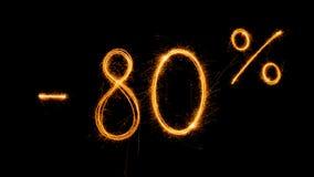 Venta 80 procent apagado Foto de archivo