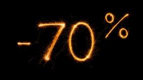 Venta 70 procent apagado Fotografía de archivo