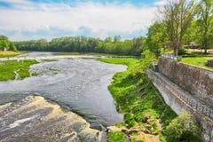 Venta-Rapid, Kuldiga, Lettland Stockbilder