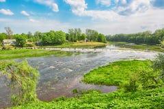 Venta-Rapid, Kuldiga, Lettland Lizenzfreies Stockfoto