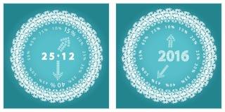 Venta redonda del emblema del Año Nuevo Foto de archivo