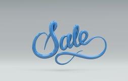 Venta rosada y amarilla Letras del vector 3D Fotos de archivo libres de regalías